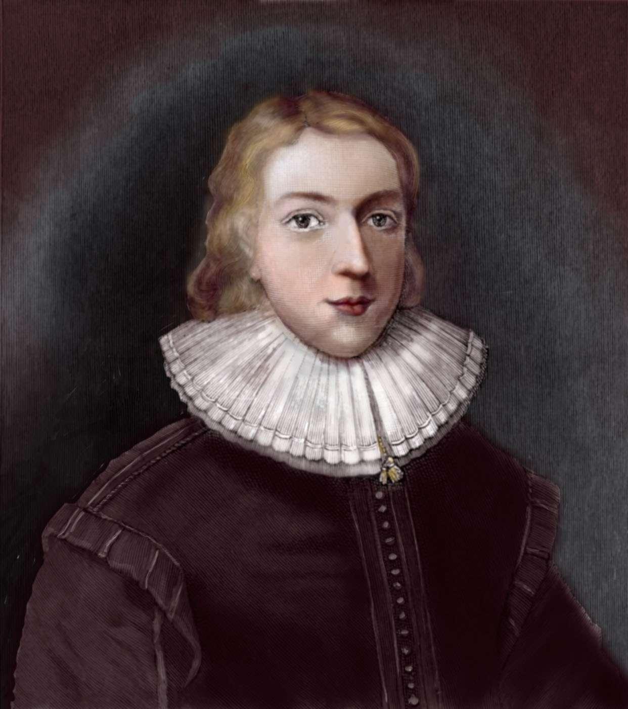 Portrait of John Milton at age 21