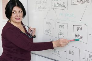 Adults learning a French language