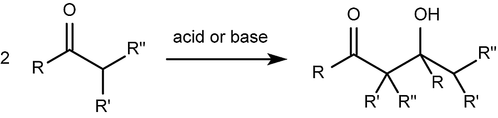 This is the general form for the aldol reaction.