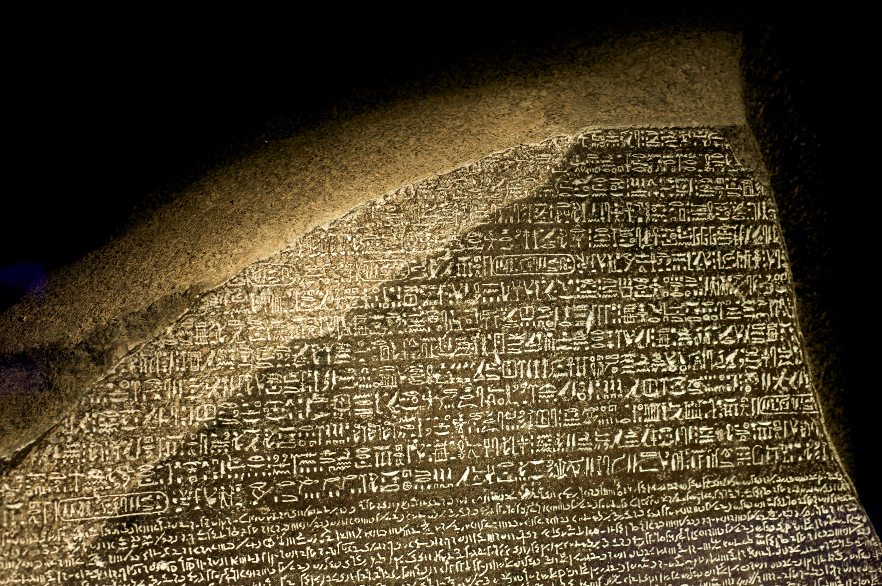 the history of rosetta stone in egypt Ancient egyptian hieroglyphics and the rosetta stone the discovery of the rosetta stone then one day in 1798, while general napoleon bonaparte was leading his french republican army into egypt to occupy it, on accident a lieutenant named bouchard was supervising fortifications at rashid.