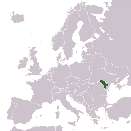Location of Molodovo District of Ukraine in Europe