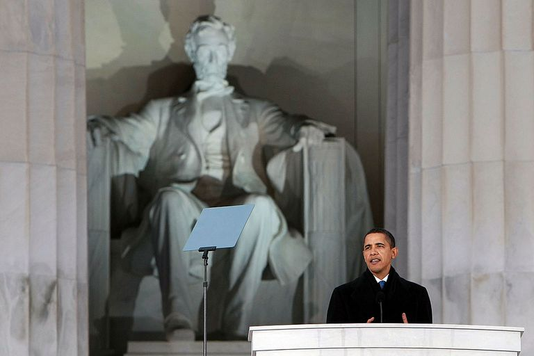 The Obama Inaugural Celebration At The Lincoln Memorial