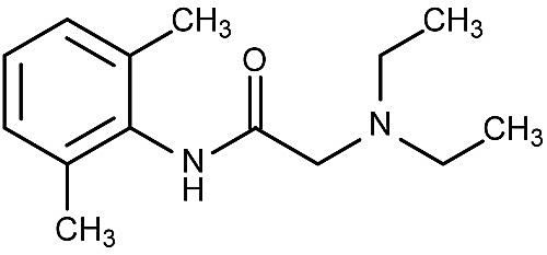 This is the chemical structure of lidocaine.