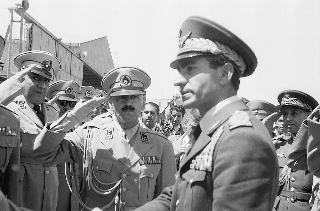 Shah Reza Pahlevi, of Iran, returning to Iran after a week-long exile due to the failled Mohamed Mossadegh coup d'etat.