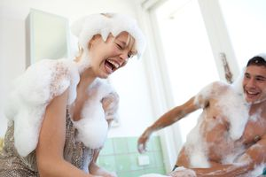 You might want to have the foam fight in a bathroom or outdoors, since you'll get wet.