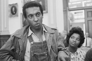 Activist Stokely Carmichael at a 1966 press conference