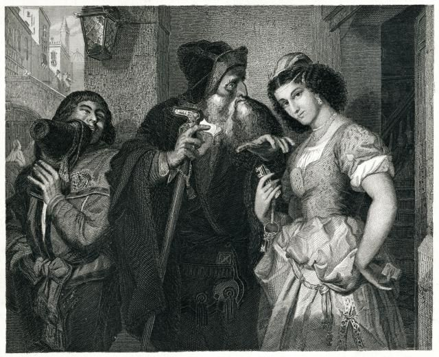19th Century Engraving of the Merchant of Venice
