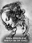 Mary Magdalene, Sketch by Da Vinci