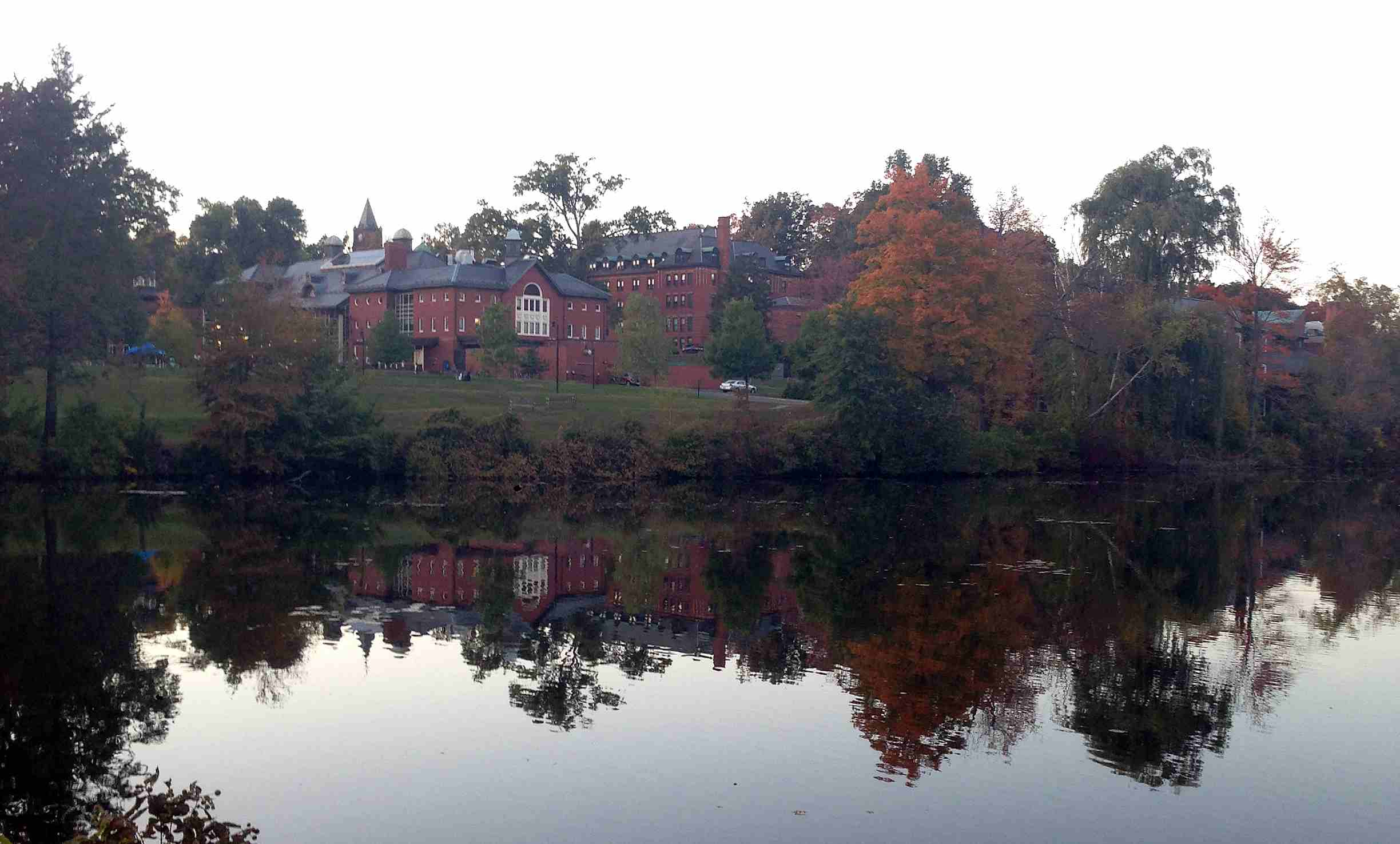 Mount Holyoke College from afar