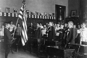Class Recites Pledge Of Allegiance