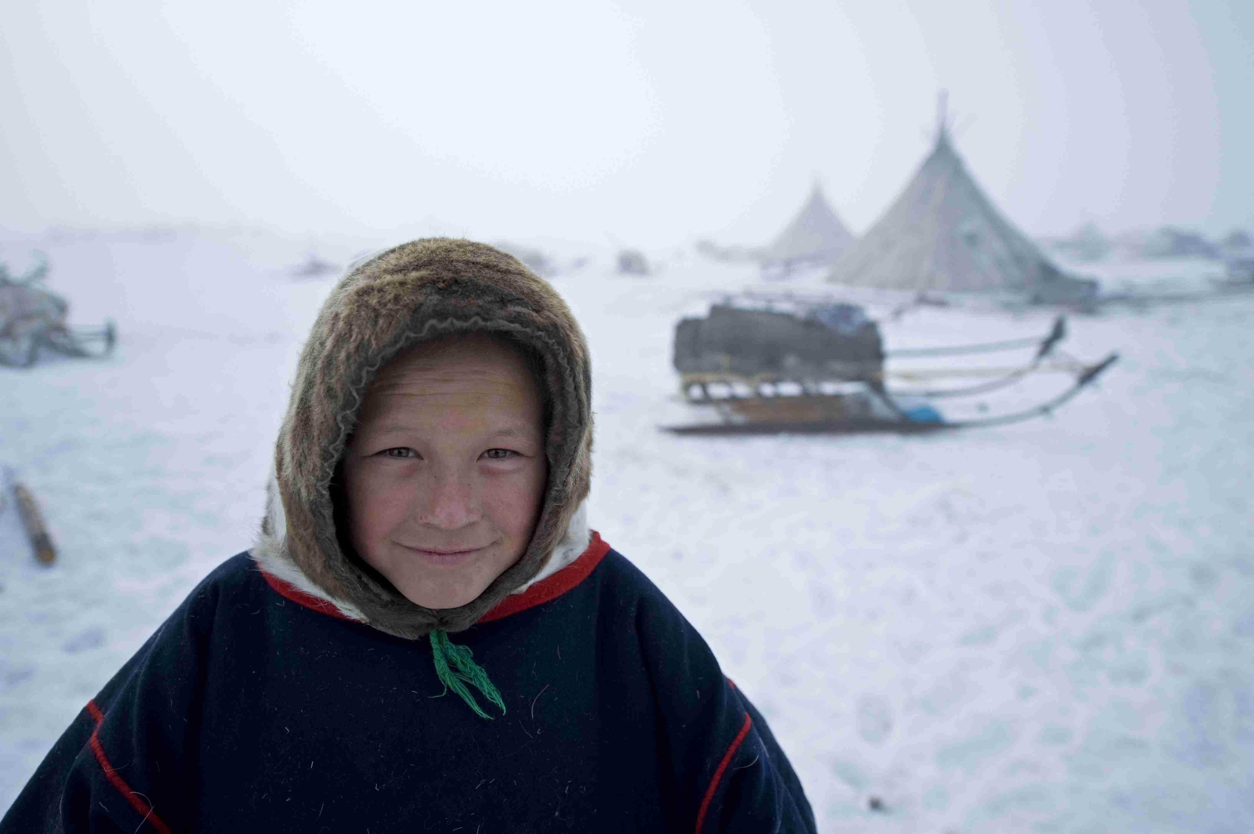 A Nenets boy. The Nenets are an indigenous group native to Siberia.
