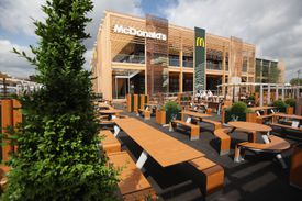 One of four McDonald's restaurants in the Olympic Park in London, England. (At the conclusion of the 2012 London Olympic and Paralympic Games, the restaurant was dismantled.)