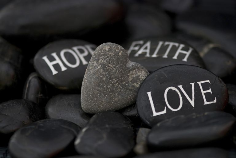 Faith, Hope, Love on Stones
