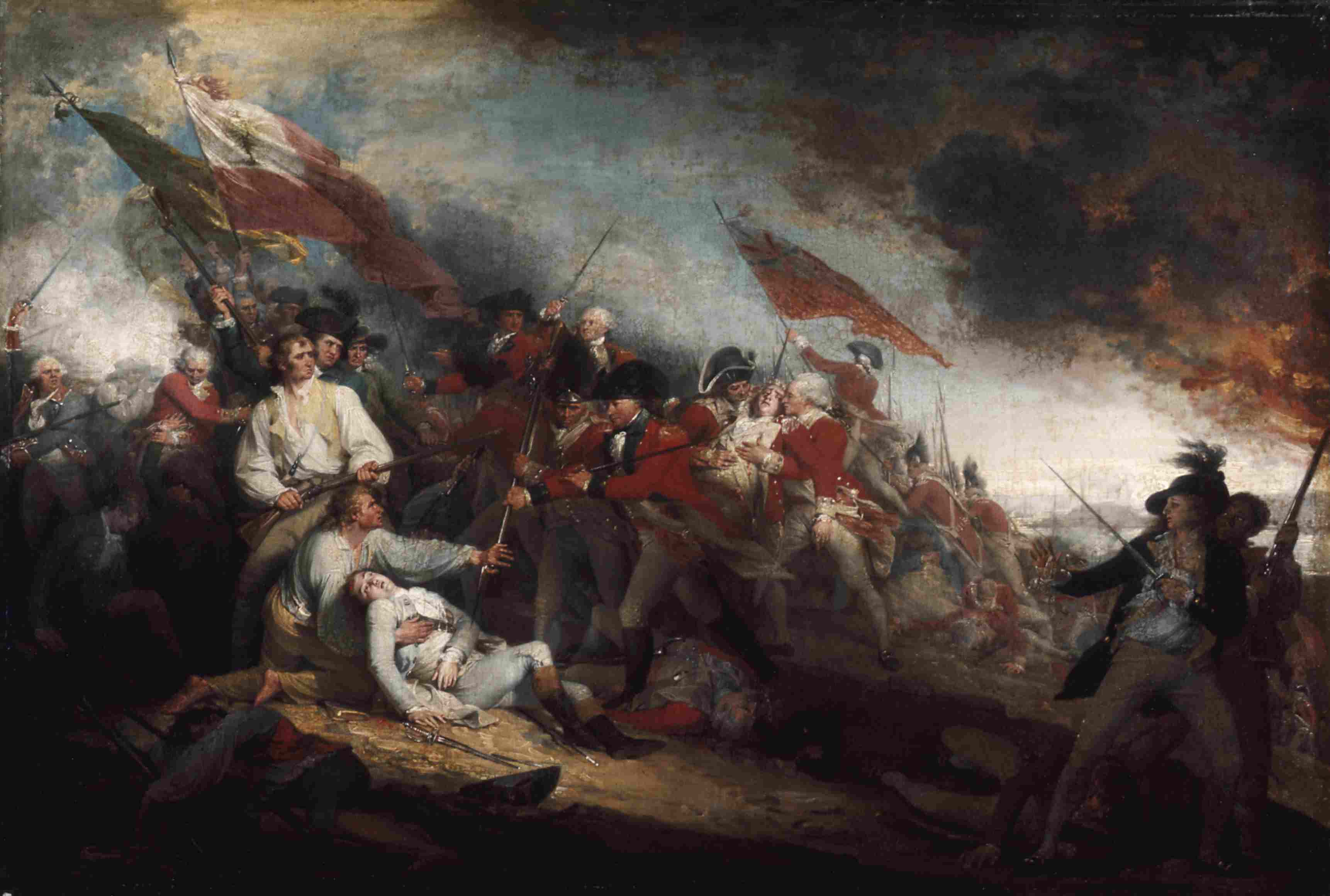 The Death of General Warren at the Battle of Bunker Hill, June 17, 1775, painint by John Trumbull.