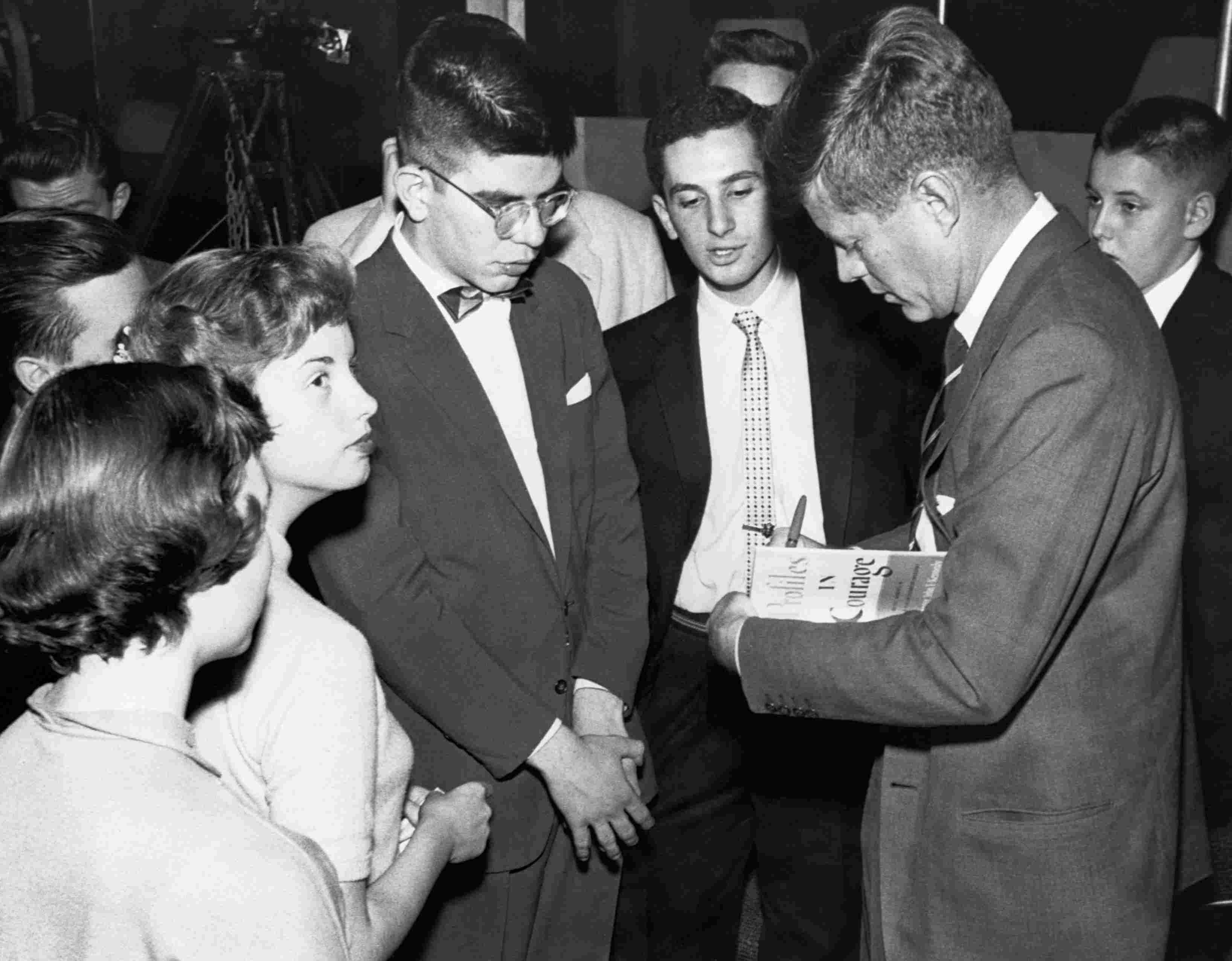 Senator John Kennedy Signing Copies of Profiles in Courage