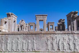 Darius palace ruins in Persepolis, Iran.