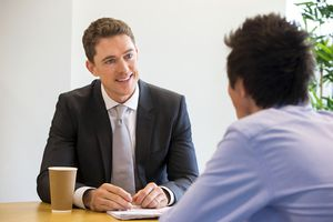 Student at an Interview