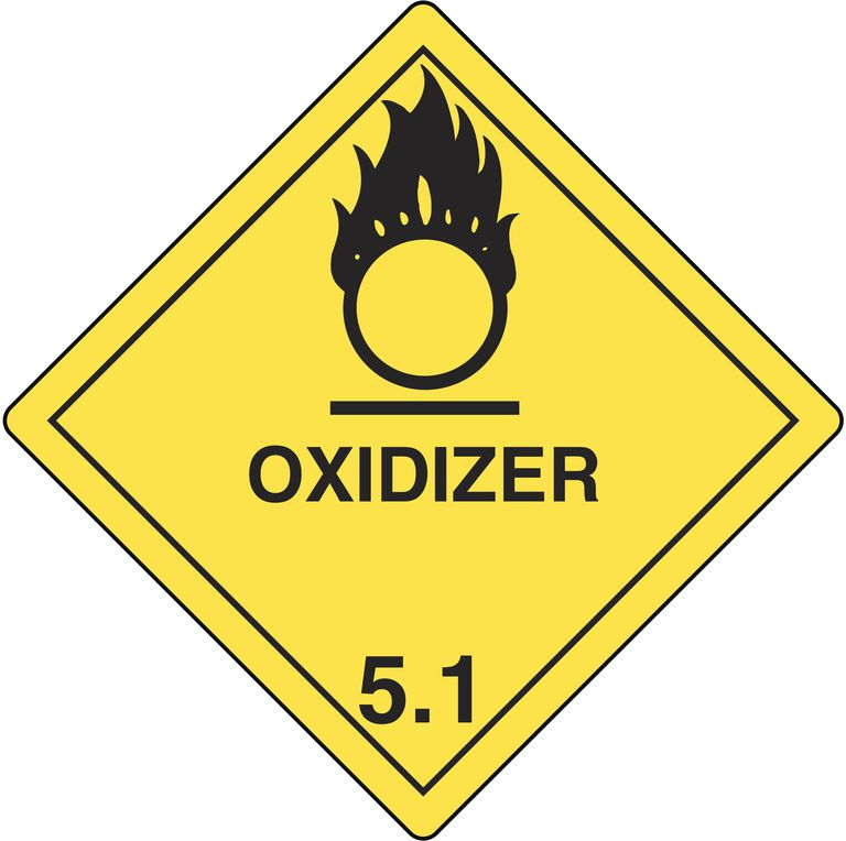 This is the hazard symbol for oxidizers.
