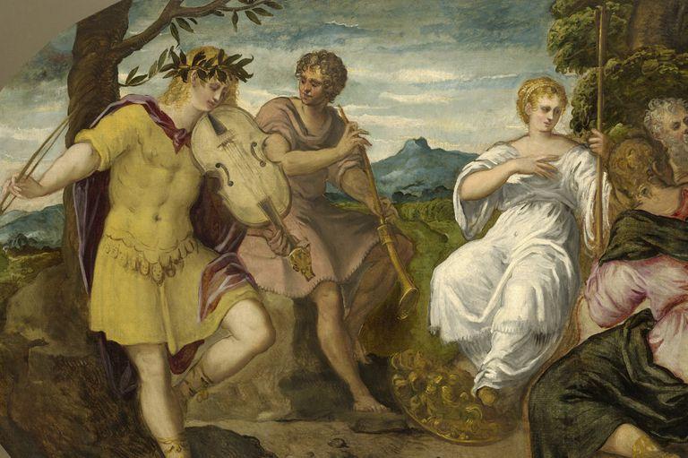 The Musical Contest between Apollo and Marsyas, circa 1545. Artist: Jacopo Tintoretto.