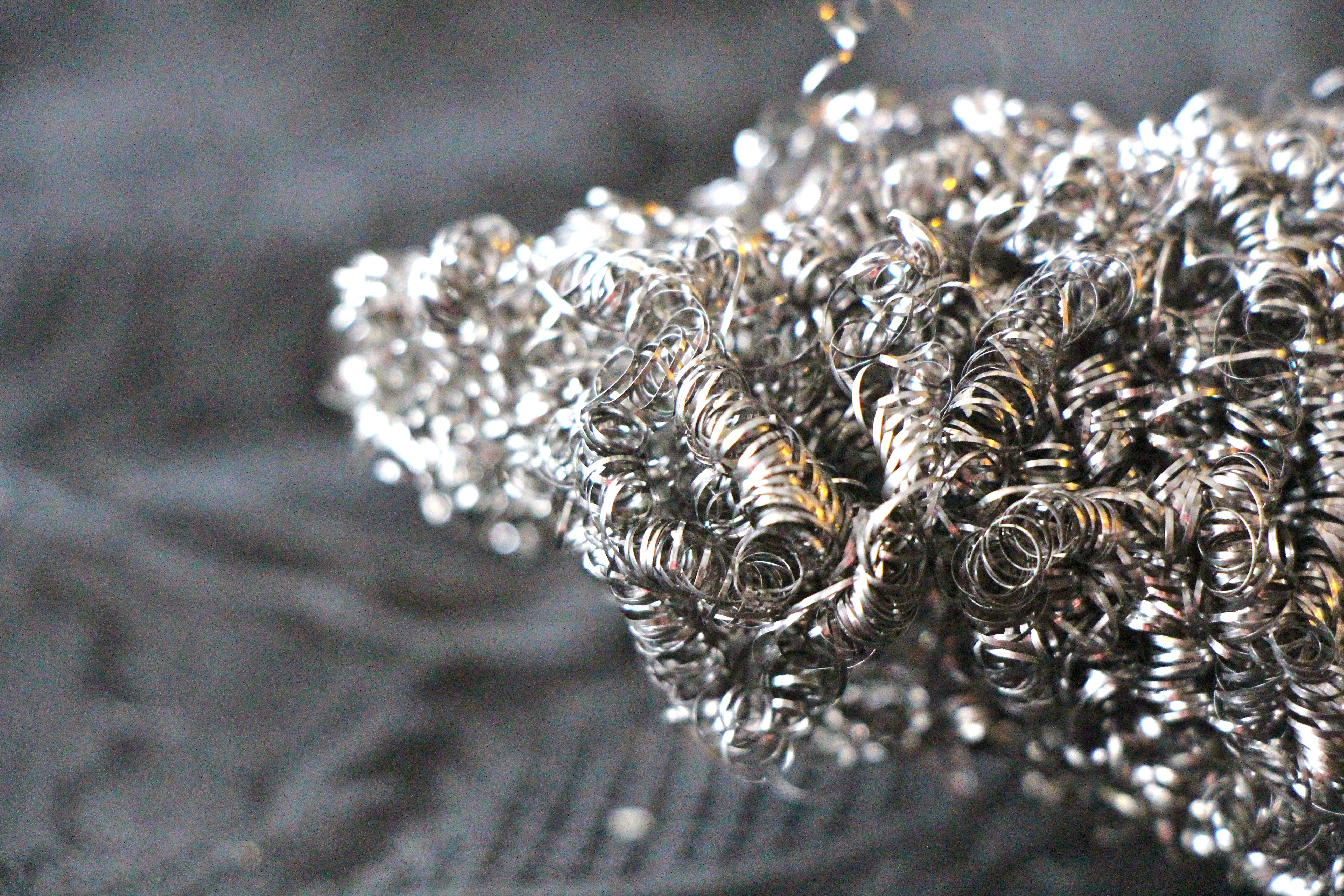 closeup of steel wool