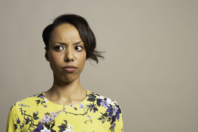 Woman looking confused.