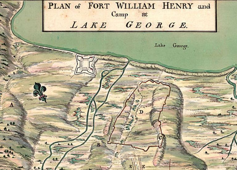 Map of Fort William Henry