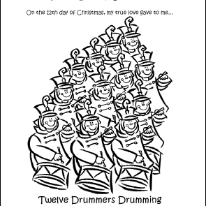 The 12th Day Of Christmas Coloring Page