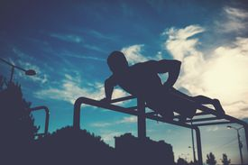 Man doing strength training