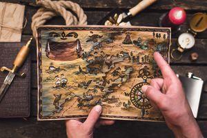 Treasure map.