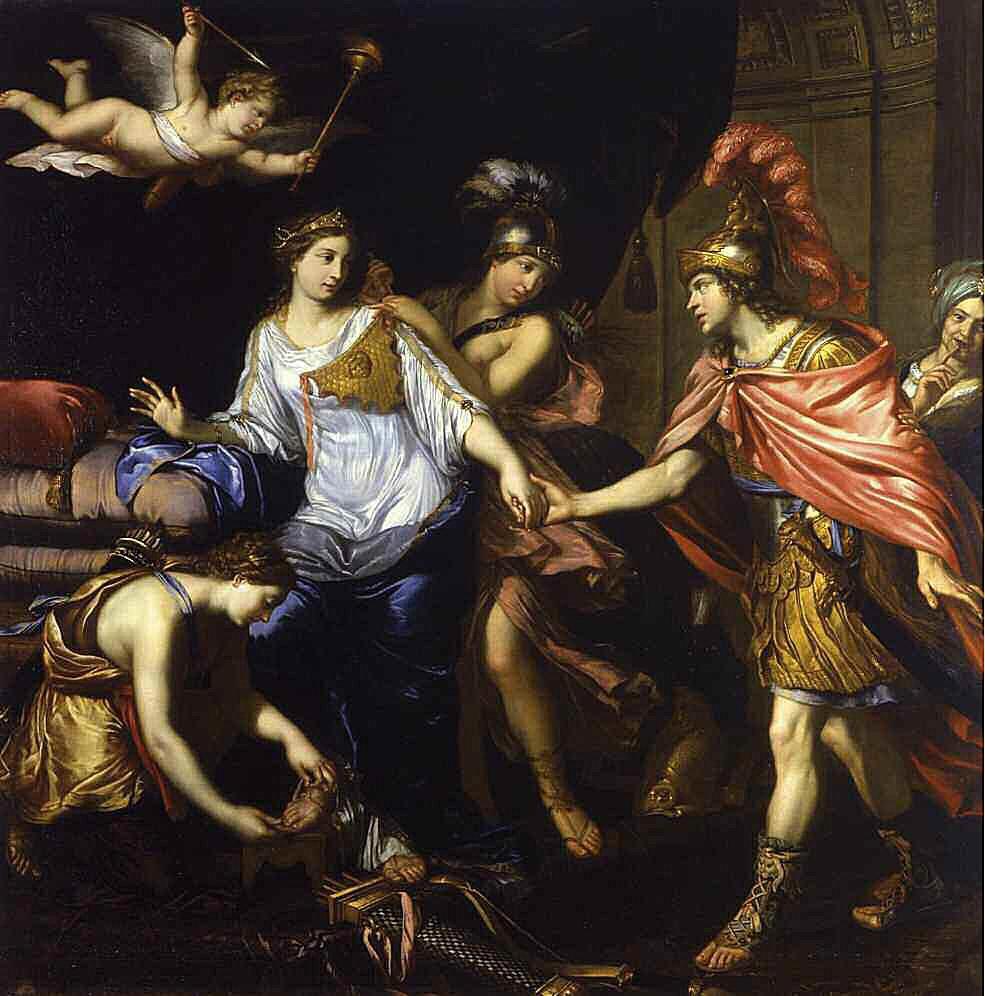 Thalestris romances Alexander the Great