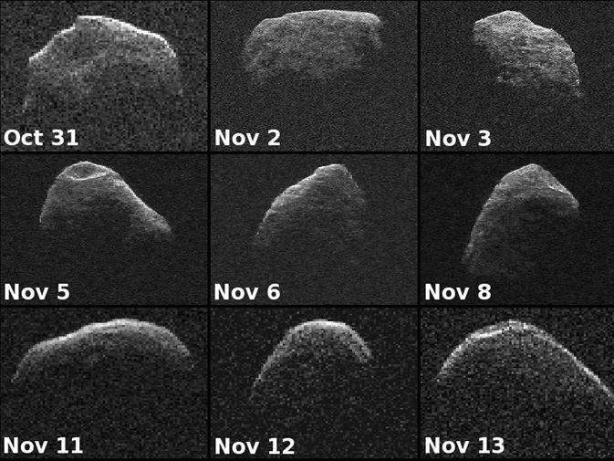 asteroid Apophis seen in radar images.