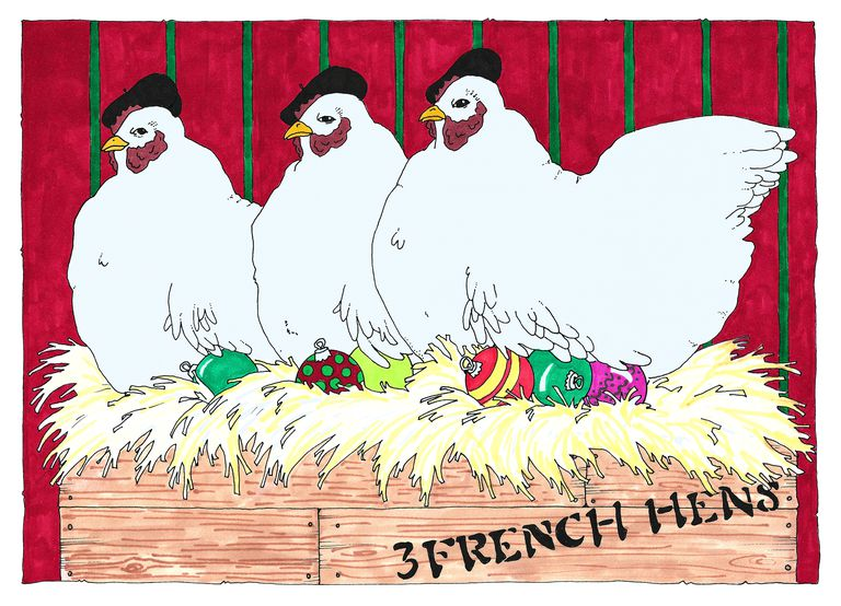three french hens - 12 Days Of Christmas Lyrics