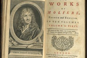 First volume of 1739 English translation of Molière's plays.