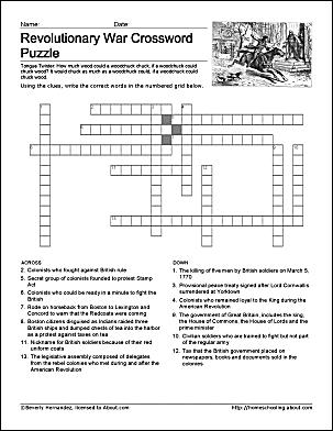 Revolutionary war printable wordsearch revolutionary war crossword puzzle ibookread Read Online