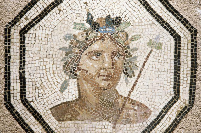 mosaic of Greek god Bacchus