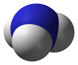 This is the space-filling model of ammonia.