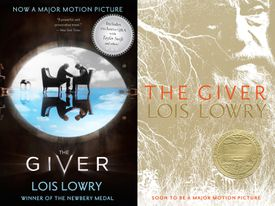 Movie Tie-in and Traditional Book Covers for The Giver