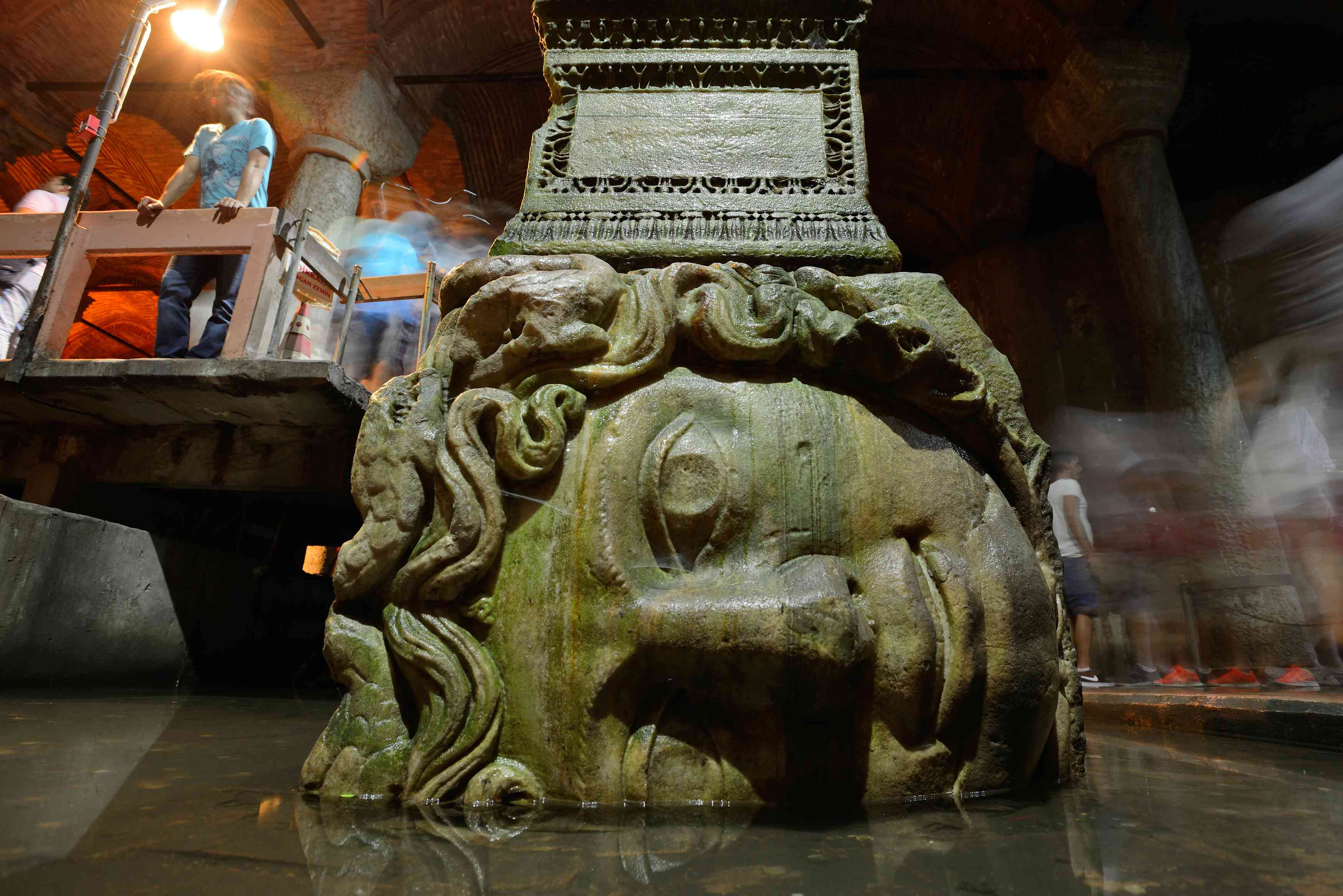 Medusa Head at Yerebatan Sarayi Cistern in Istanbul.