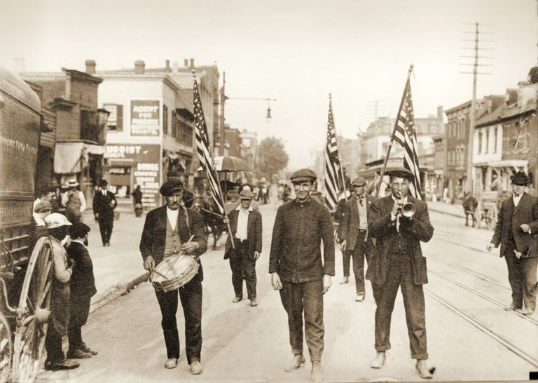Photograph of marchers in Coxey's Army
