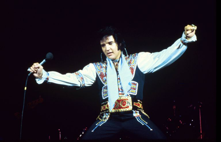 Elvis wearing goofy outfit