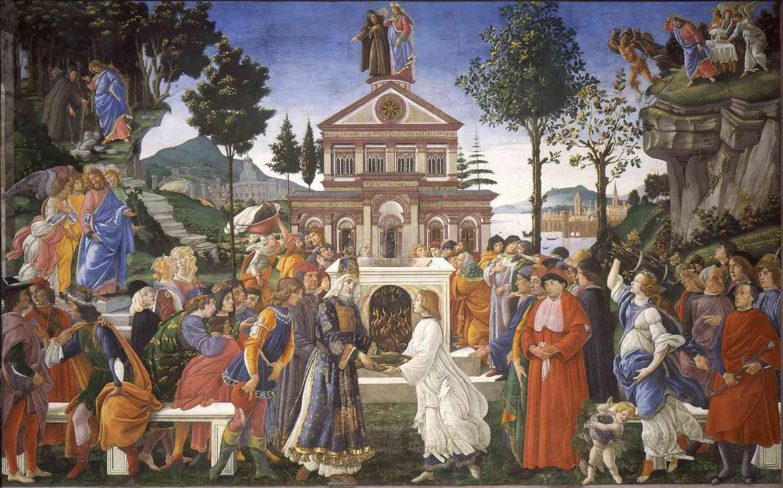 sandro botticelli temptation of christ