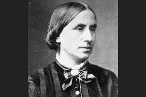 Black and white portrait of Dorothea Dix, about 1850