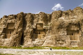 Persian Empire Tombs of Naqsh-e Rustam, Marvdascht, Fars, Iran, Asia