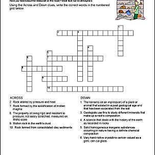 Rocks Crossword Puzzle