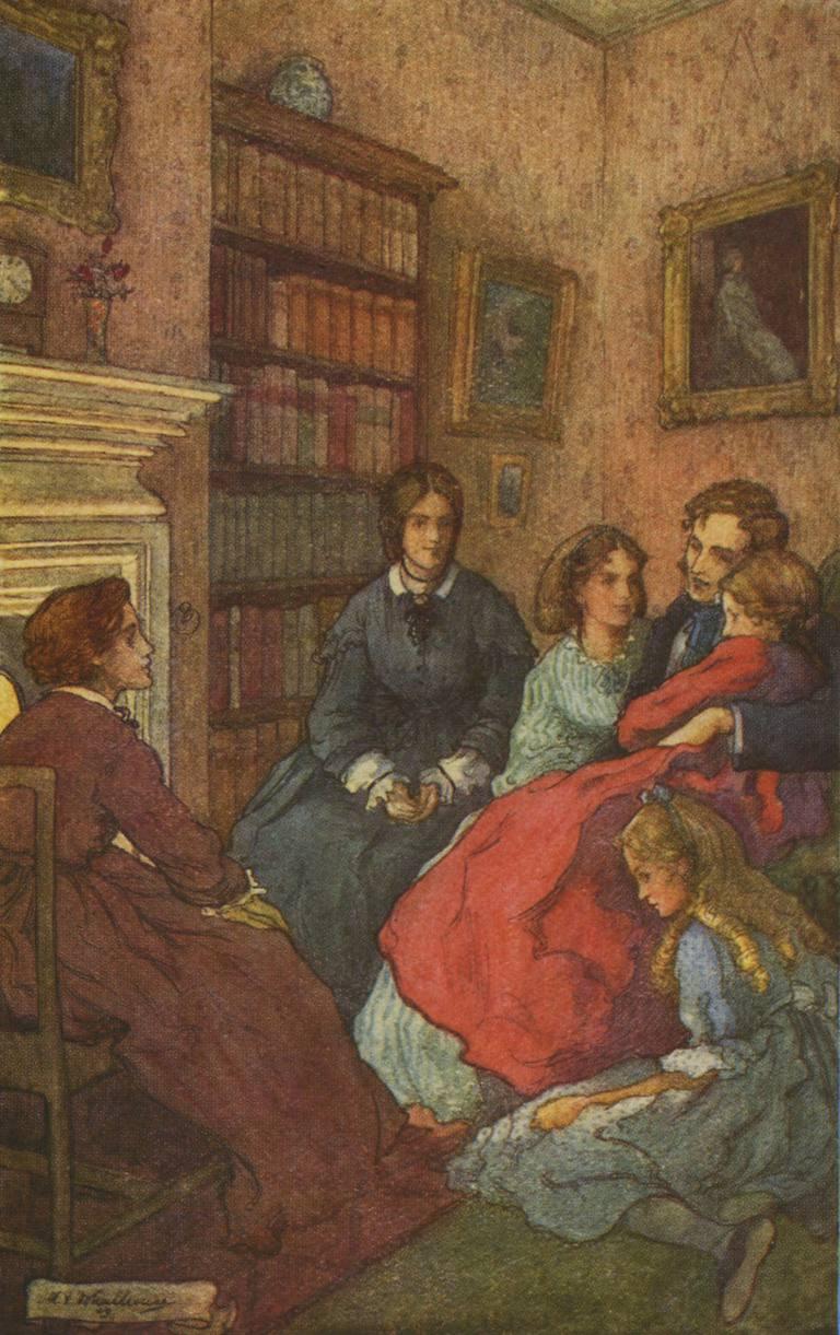 Illustration from Little Women, 1870