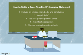 How to write a teaching philosophy statement