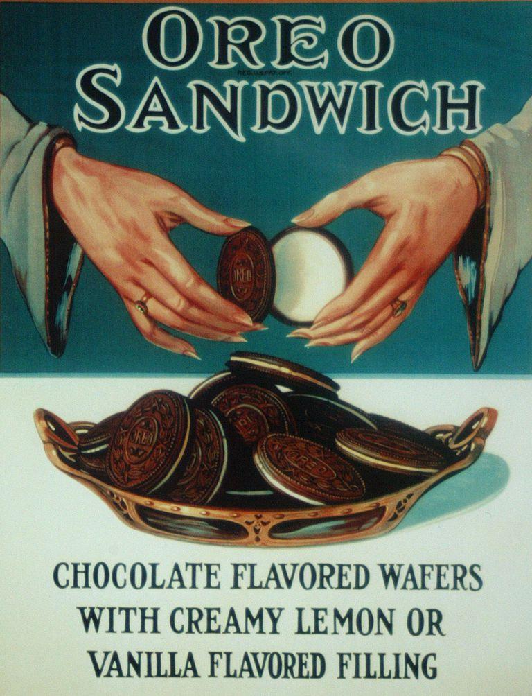An Oreo cookies advertisement circa 1924