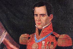 Santa Anna in a Mexican military uniform