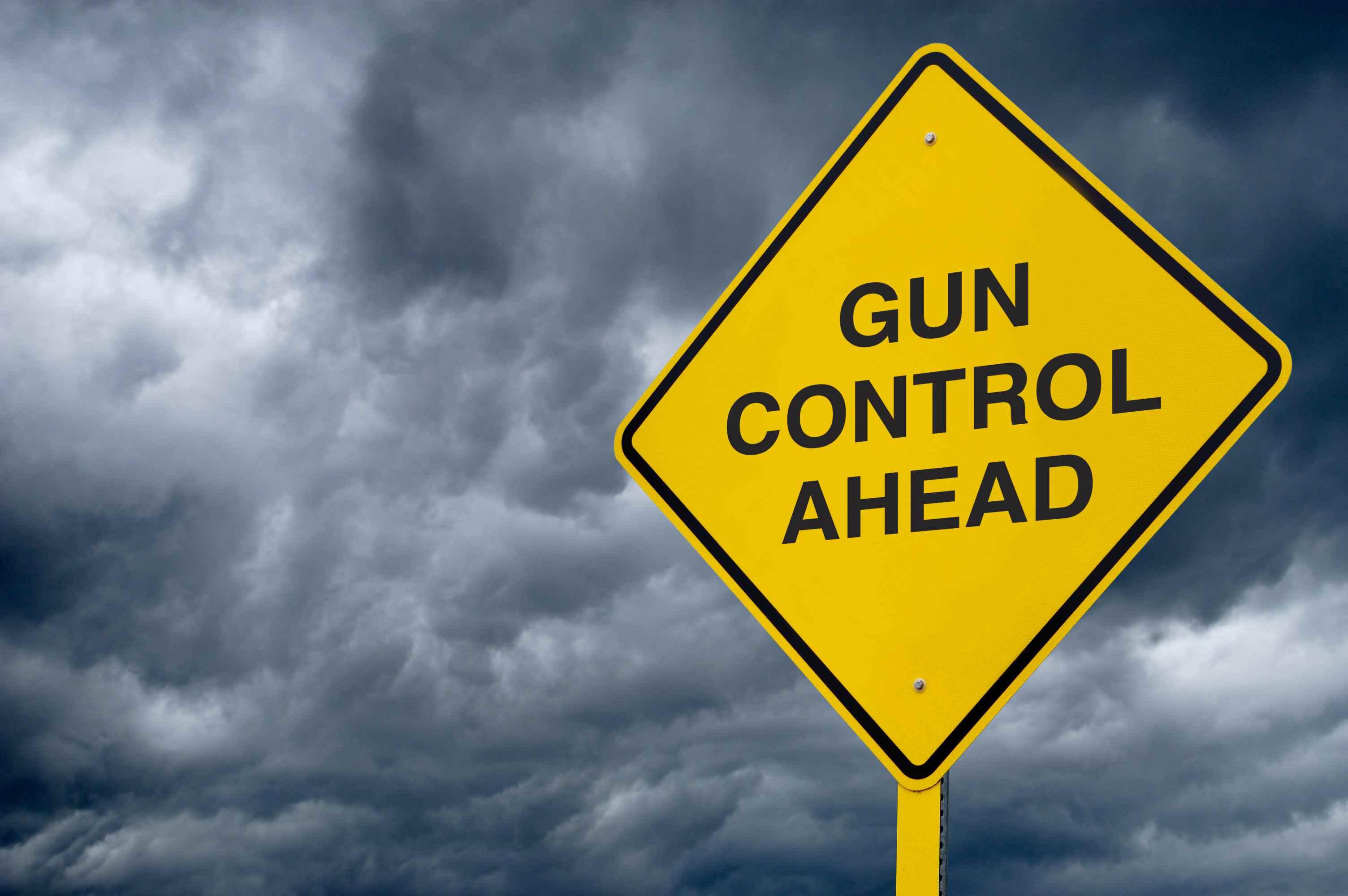 Road Sign - Gun Control