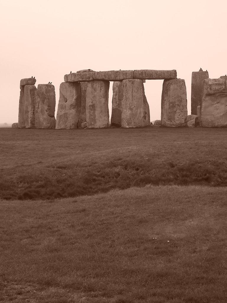 Stonehenge in sepia, England